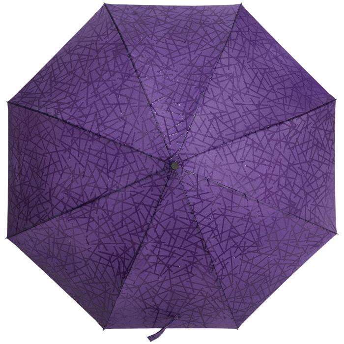 Зонт складной Magic с проявляющимся рисунком, фиолетовый