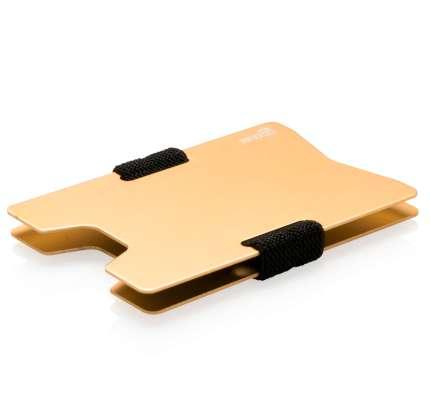 Чехол для карт с защитой от сканирования RFID, цвет бежевый