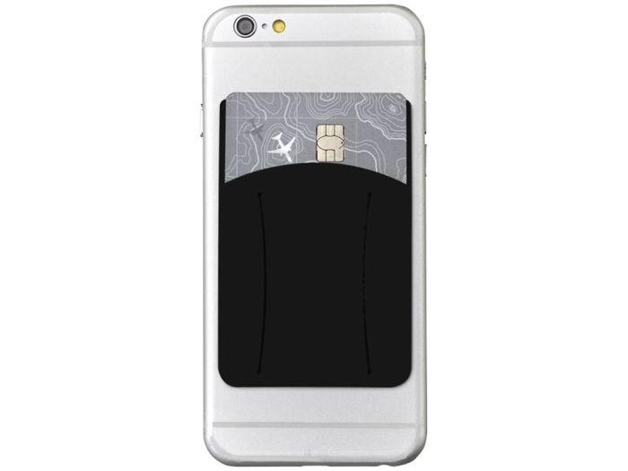 Картхолдер для телефона с отверстием для пальца, цвет чёрный