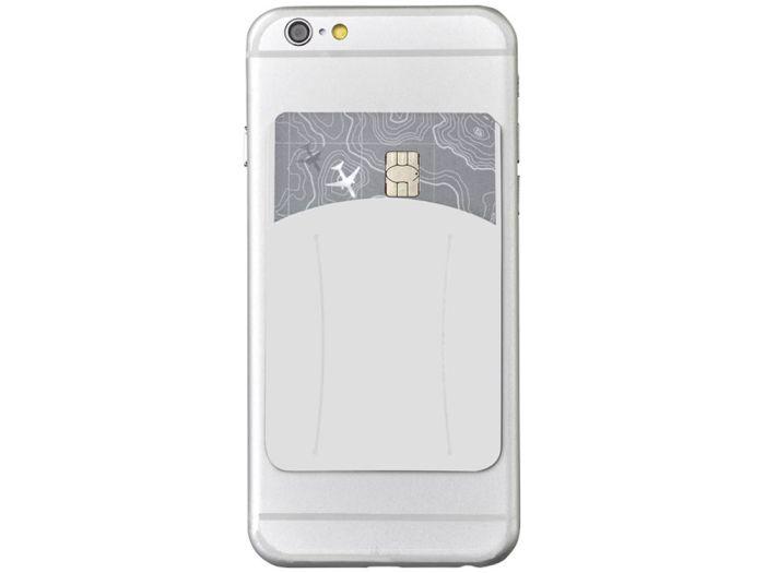 Картхолдер для телефона с отверстием для пальца, цвет белый