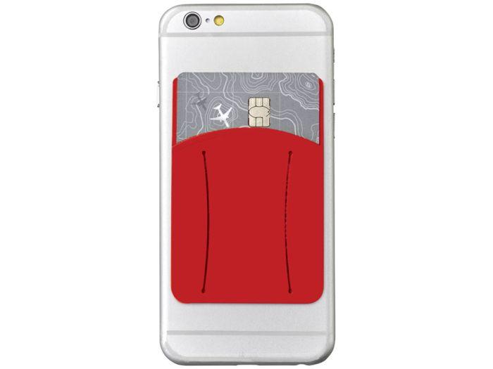 Картхолдер для телефона с отверстием для пальца, цвет красный