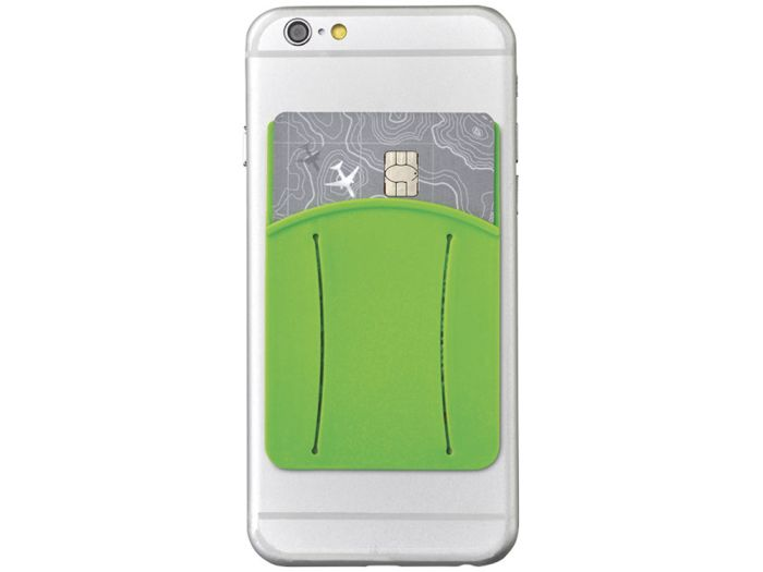 Картхолдер для телефона с отверстием для пальца, цвет лайм