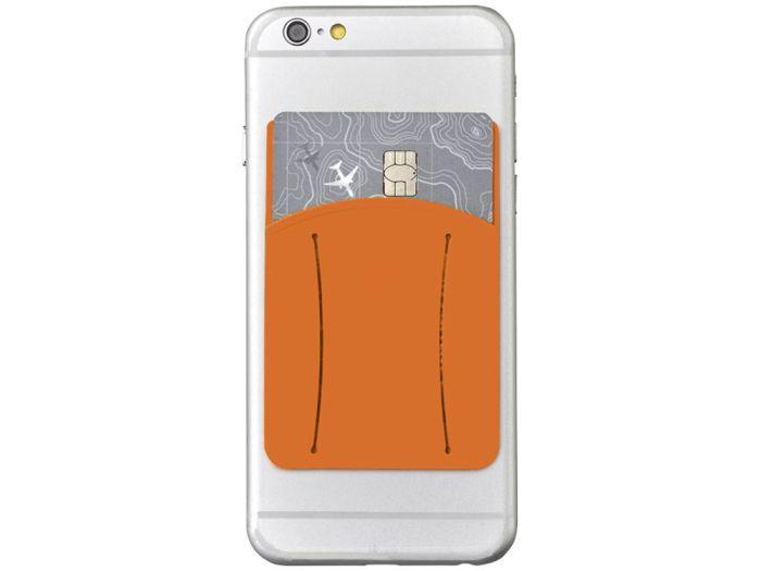 Картхолдер для телефона с отверстием для пальца, цвет оранжевый
