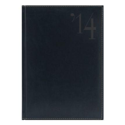 Ежедневник NG датированный Portland 5450 (650) 145x205 мм, темно-синий, белый блок, посеребренный срез