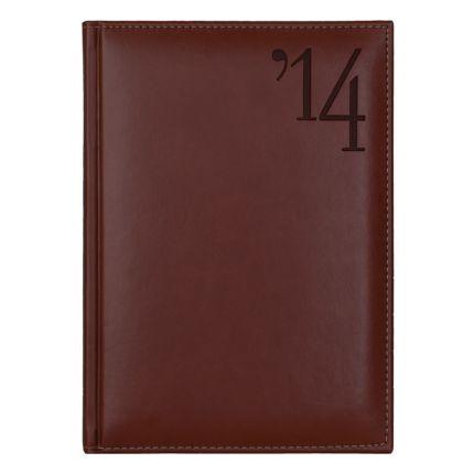 Ежедневник NG датированный Portland 5459 (650) 145x205 мм, коричневый, кремовый блок, золотой срез