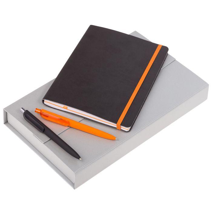 Набор Trio Colors: блокнот, карандаш и ручка, цвет тёмно-серый