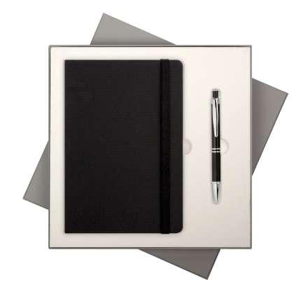 Подарочный набор Portobello Trend/BtoBook Canyon черный (Ежедневник недат А5, Ручка)