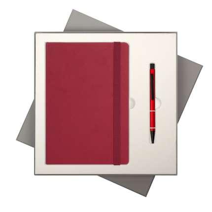 Подарочный набор Portobello Trend/BtoBook Summer time красный (Ежедневник недат А5, Ручка)