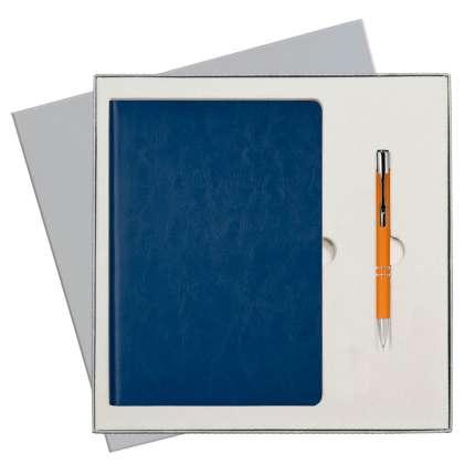 Подарочный набор Portobello Trend/River Side синий (Ежедневник недат А5, Ручка) беж. ложемент