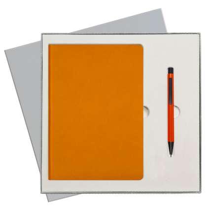 Подарочный набор Portobello Trend/Sky оранжевый (Ежедневник недат А5, Ручка) беж. ложемент