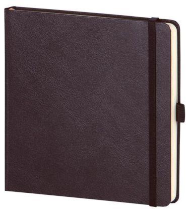 """Скетчбук с резинкой под ручку (бренд InFolio) коллекция """"Euro business"""", размер 15х15 см, переплёт твердый, цвет черный"""