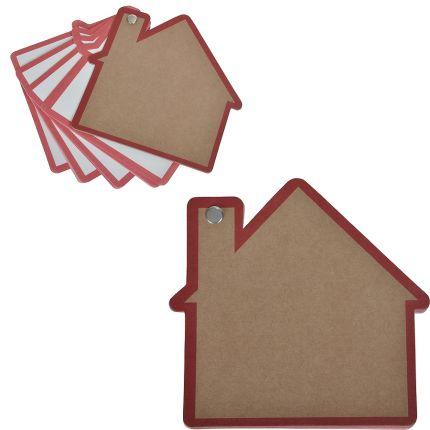 """Промо-блокнот """"Дом"""", 13х12,5 см, цвет красный"""