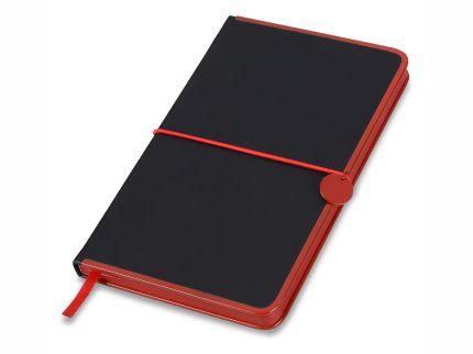 """Блокнот бренд Lettertone модель """"COLOR RIM"""", формат A5, черный/красный"""