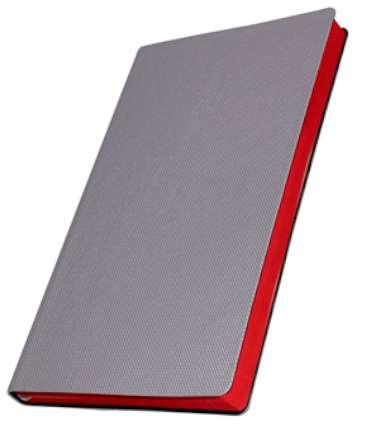 Премиум-блокнот, формат A5 (11.082-D613/M), Катанелла, цвет серебро, срез красный