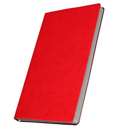 Премиум-блокнот, формат A5 (11.082-4872 ), Катанелла, цвет красный, срез серебристый