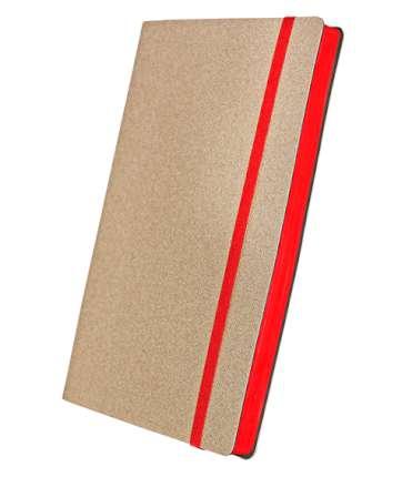 Премиум-блокнот, формат A5 (11.08235-F336), Юта, цвет бежевый, срез красный, резинка красная