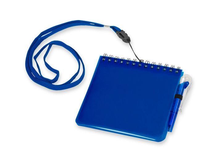 """Блокнот """"Журналист"""" с ручкой, формат А6, цвет синий"""