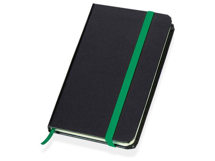 """Блокнот """"Имлес"""", формат А6, цвет чёрный с зелёным"""