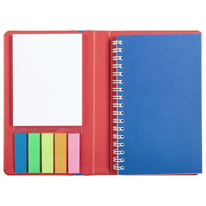 Блокнот Freestick с блоком для записей, цвет красный/синий