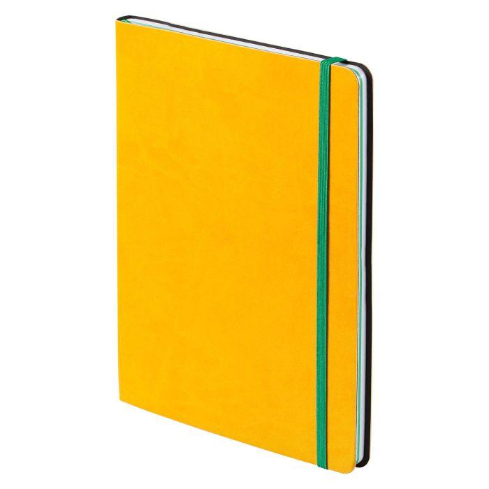 """Блокнот """"BiColor"""", в линейку и клетку, размер 15,5х21 см (формат A5), цвет жёлтый с зелёным"""