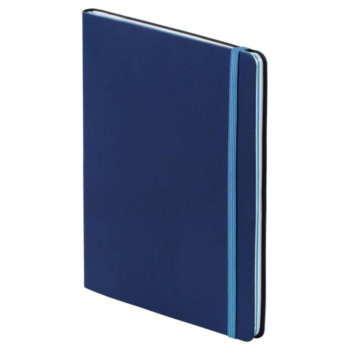 """Блокнот """"BiColor"""", в линейку и клетку, размер 15,5х21 см (формат A5), цвет синий с голубым"""