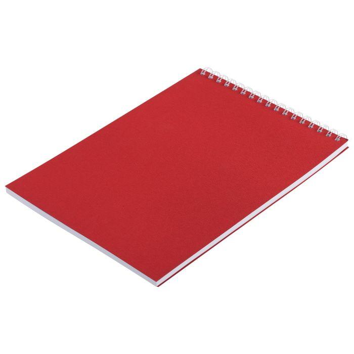 Блокнот Nettuno в клетку, формат A5, красный