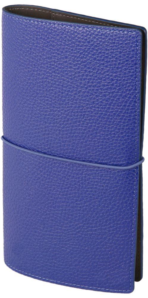 "Записная книжка ""Palette"" (бренд InFolio), размер 12х21 см, переплёт - суперобложка, цвет тёмно-синий"
