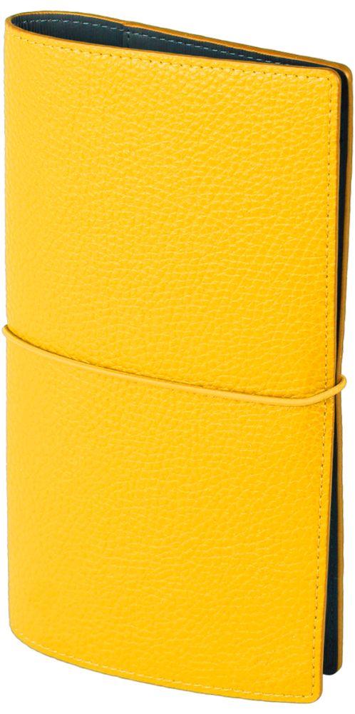 "Записная книжка ""Palette"" (бренд InFolio), размер 12х21 см, переплёт - суперобложка, цвет жёлтый"