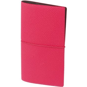 "Записная книжка ""Palette"" (бренд InFolio), размер 12х21 см, переплёт - суперобложка, цвет малиновый"
