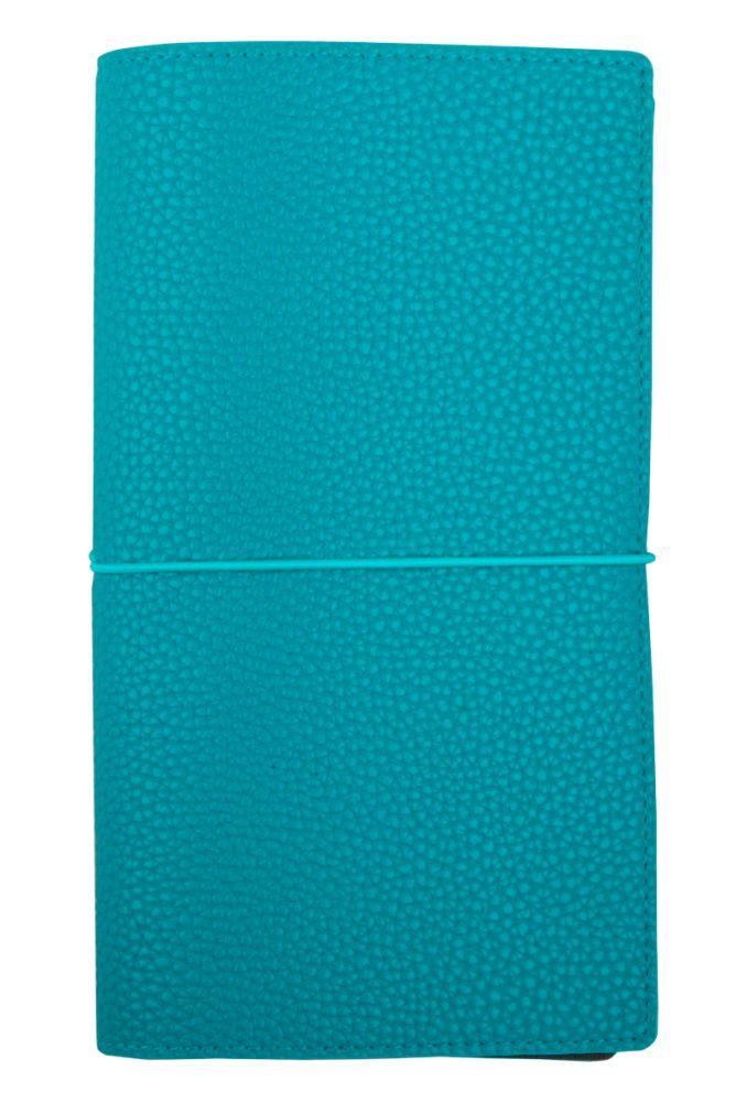 "Записная книжка ""Palette"" (бренд InFolio), размер 12х21 см, переплёт - суперобложка, цвет морская волна"