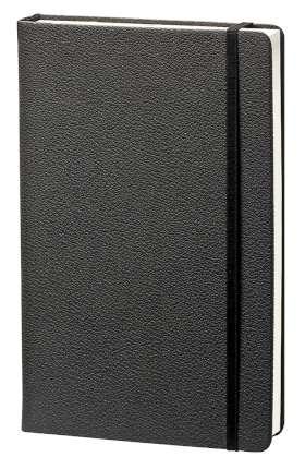 """Записная книжка """"Lifestyle"""" (бренд InFolio), формат A5, переплёт твердый с резинкой, цвет чёрный"""