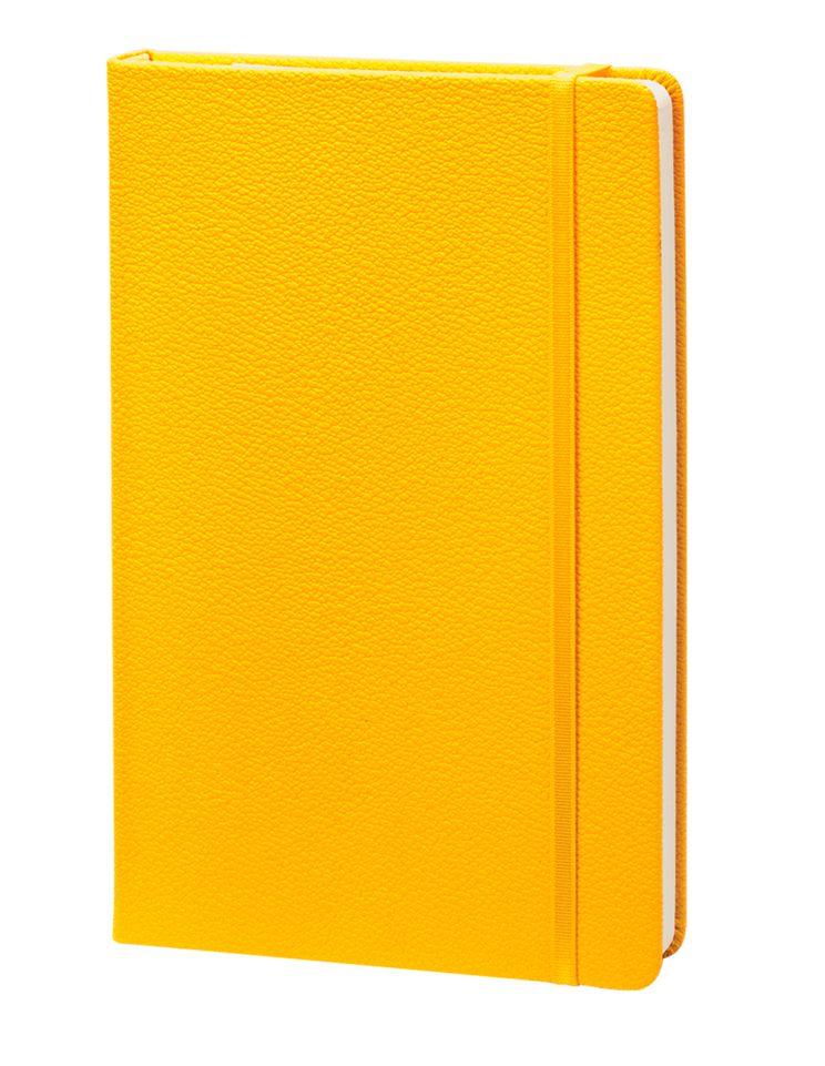 """Записная книжка """"Lifestyle"""" (бренд InFolio), формат A5, переплёт твердый с резинкой, цвет жёлтый"""