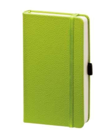 """Записная книжка (бренд InFolio) коллекция """"Lifestyle"""", формат A6, переплёт твердый с резинкой, цвет салатовый"""