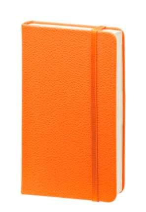 """Записная книжка (бренд InFolio) коллекция """"Lifestyle"""", формат A6, переплёт твердый с резинкой, цвет оранжевый"""