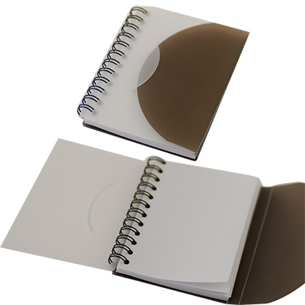 Блокнот в пластиковой обложке, блок белый нелинованный, 75 х 105 мм, 50 страниц
