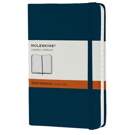Записная книжка Classic, формат A6 (блок в линейку), цвет голубой сапфир