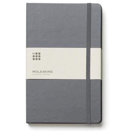 Записная книжка Classic, формат A6 (блок в линейку), цвет серый
