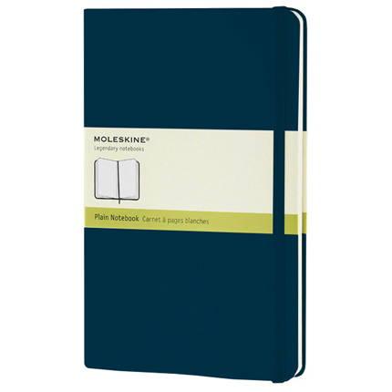 Записная книжка Classic, формат A5 (блок нелинованный), цвет голубой сапфир