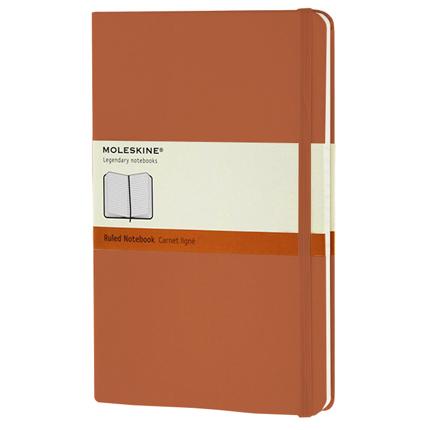 Записная книжка Classic, формат A5 (блок в линейку), цвет оранжевый коралл