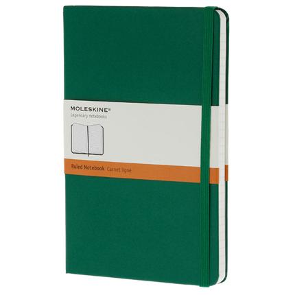 Записная книжка Classic, формат A5 (блок в линейку), цвет зелёный