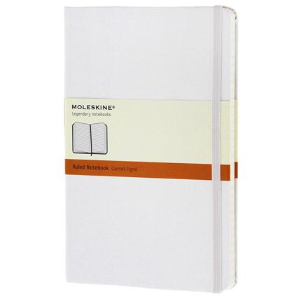 Записная книжка Classic, формат A5 (блок в линейку), цвет белый