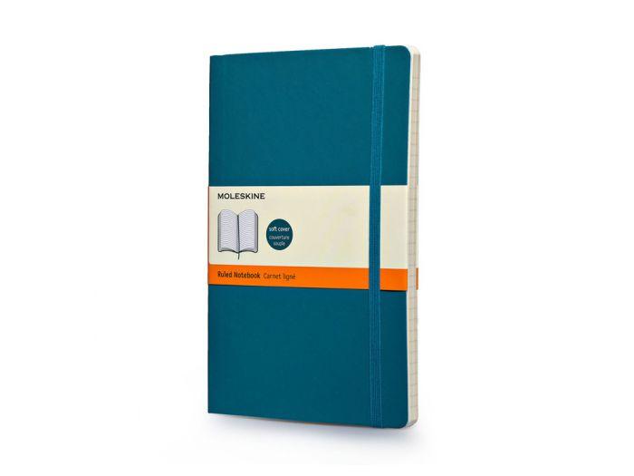 Записная книжка Classic Soft, формат A5 (блок в линейку), цвет бирюзовый