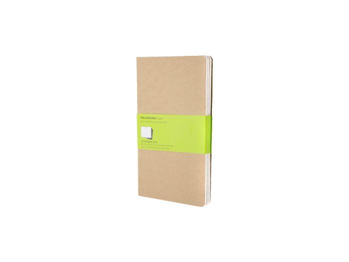 Набор записных книжек Cahier, Large, формат A5 (блок нелинованный), цвет бежевый