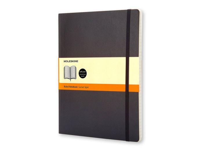 Записная книжка Moleskine Classic Soft XLarge, формат B5, блок в линейку, цвет белый