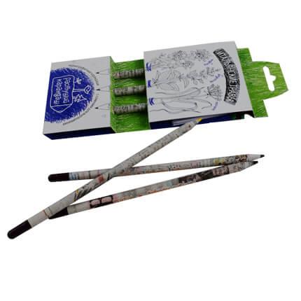 """Набор из 3 чернографитных карандашей """"Растущий карандаш. Итальянские травы"""""""