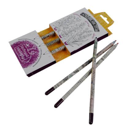 """Набор из 3 чернографитных карандашей """"Растущий карандаш. Альпийские луга"""""""