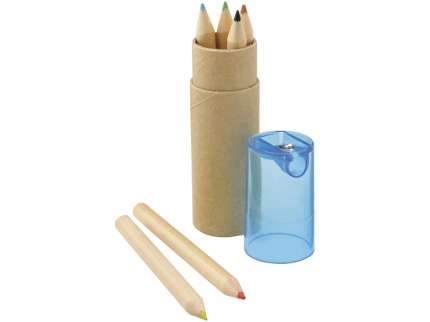 """Набор """"Тук"""": 6 цветных карандашей в картонном тубусе с крышкой-точилкой"""