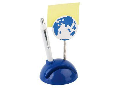 """Подставка под визитки с ручкой и держателем для записок """"Глобус"""""""