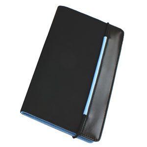 Визитница (60 визиток), цвет голубой, черный