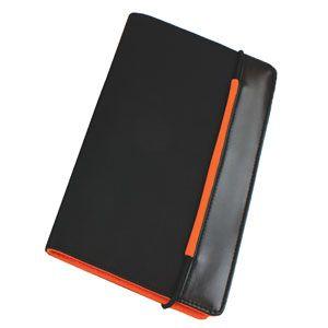 Визитница (60 визиток), цвет оранжевый, черный